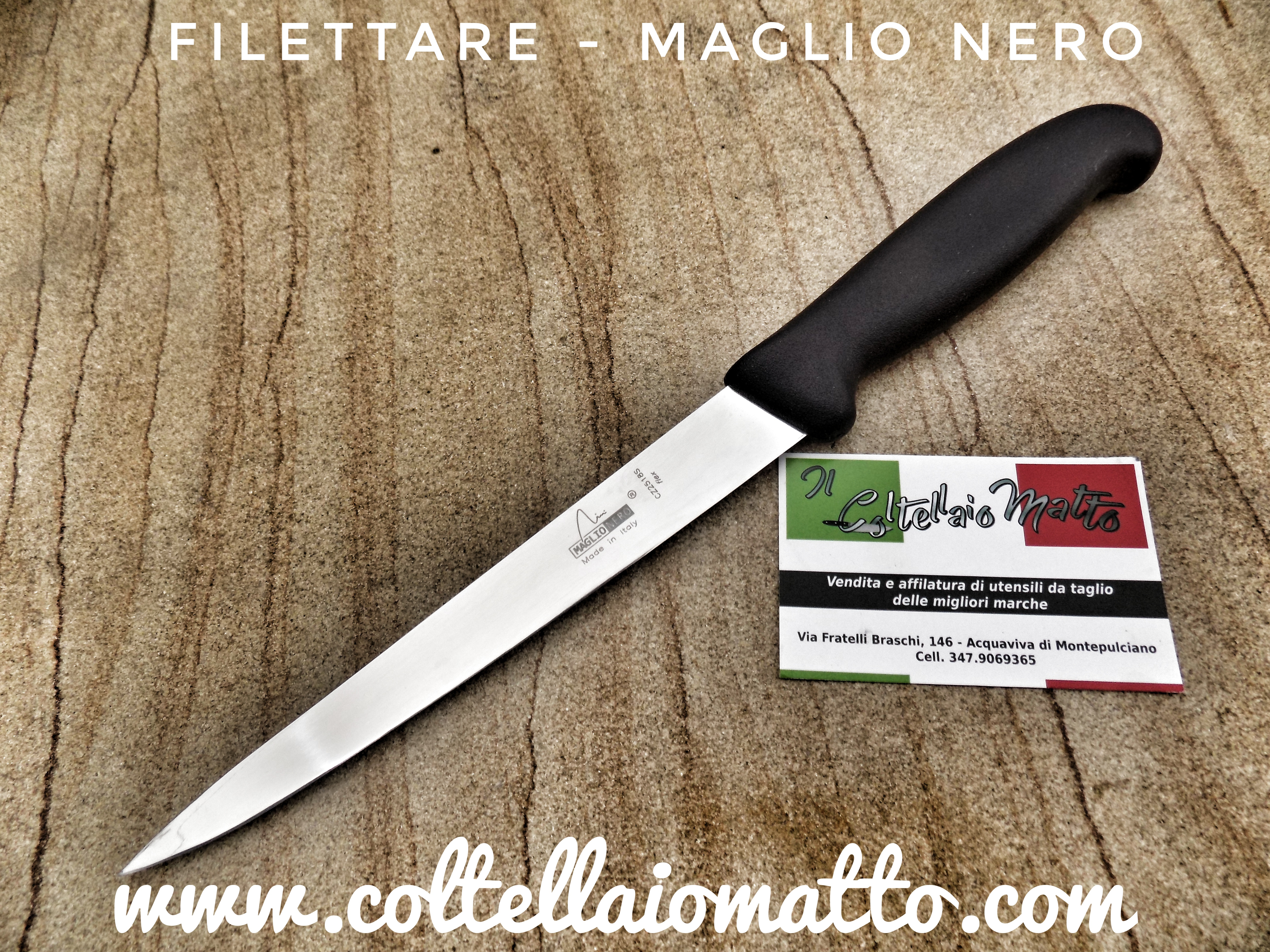 Coltello Filettare Maglio Nero