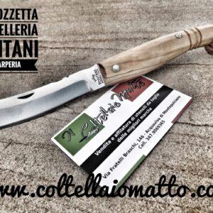 Coltello Mozzetta – manico in olivo –  Fontani – Scarperia
