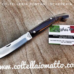 Coltello Mozzetta – manico in corno – Fontani