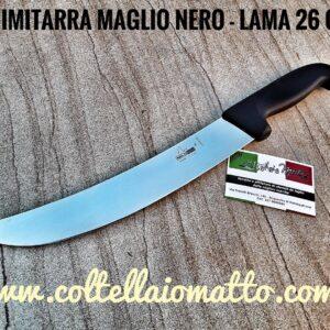 SCIMITARRA – MAGLIO NERO -MADEY IN ITALY