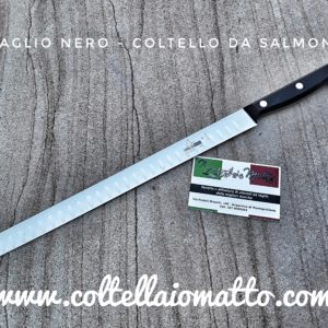 MAGLIO NERO – COLTELLO PER  SALMONE – MADE IN ITALY